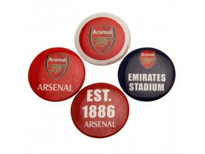 Arsenal FC Button Badge Set
