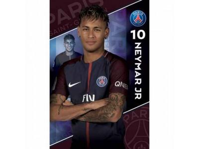 Paris Saint Germain FC Poster Neymar 10