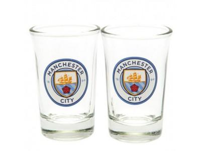 Manchester City FC 2 Pack Shot Glass Set