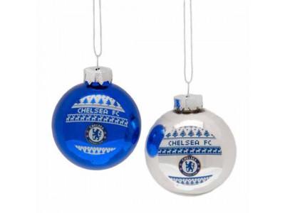 Chelsea FC 2pk Nordic Baubles