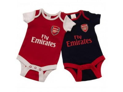 Arsenal FC 2 Pack Bodysuit 9/12 Months Nr