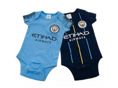 Manchester City FC 2 Pack Bodysuit 3/6 Months NV