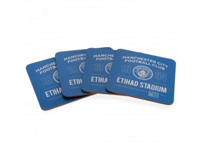Manchester City FC 4 Pack Coaster Set