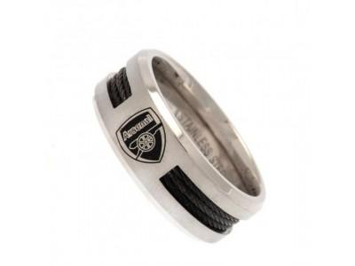 Arsenal FC Black Inlay Ring Small CR