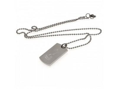 Tottenham Hotspur FC Engraved Crest Dog Tag & Chain