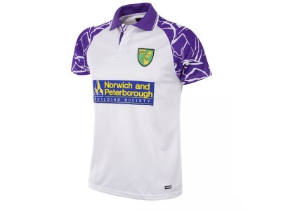 Norwich FC 1992 - 94 Away Short Sleeve Retro Football Shirt