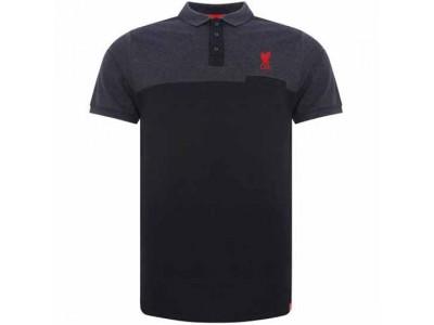 Liverpool FC Block Polo Shirt Mens Navy M
