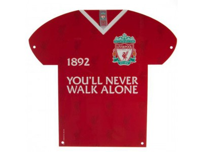 Liverpool FC Metal Shirt Sign CR
