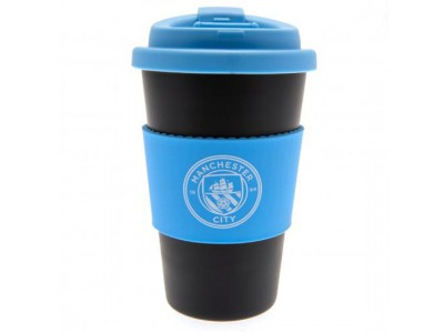 Manchester City FC Silicone Grip Travel Mug