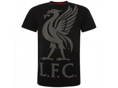 Liverpool FC Liverbird T Shirt Mens Black S