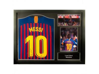FC Barcelona Messi Signed Shirt (Framed)