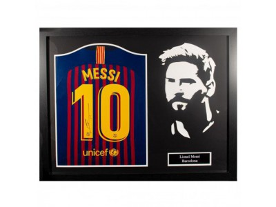 FC Barcelona Messi Signed Shirt Silhouette