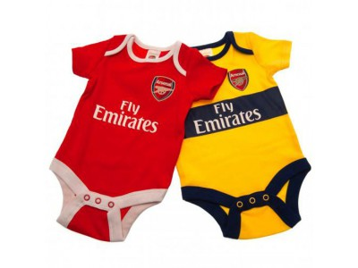 Arsenal FC 2 Pack Bodysuit 12/18 Months YL