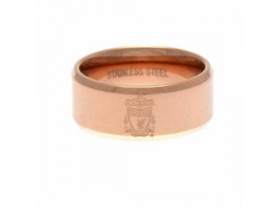 Liverpool FC Rose Gold Plated Ring Large