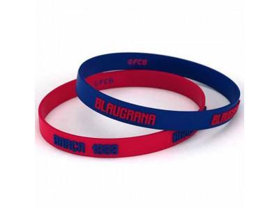 FC Barcelona 2pk Silicone Wristbands