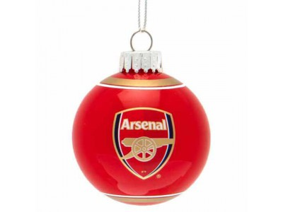 Arsenal FC Glass Bauble