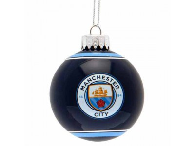 Manchester City FC Glass Bauble