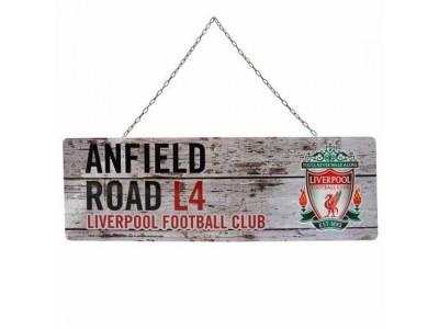Liverpool FC Rustic Garden Sign