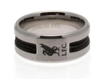 Liverpool FC Black Inlay Ring Medium