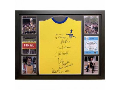 Arsenal FC 1971 Double Winners Signed Shirt Framed