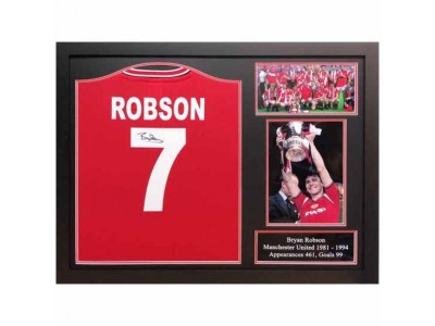 Manchester United FC Robson Signed Shirt Framed