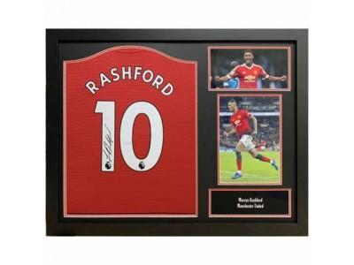 Manchester United FC Rashford Signed Shirt Framed
