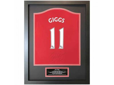 Manchester United FC Giggs Signed Shirt Framed
