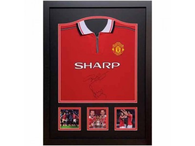Manchester United FC Giggs & Scholes Signed Shirt Framed