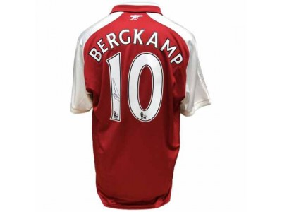 Arsenal FC Bergkamp Signed Shirt