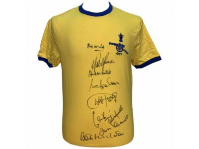 Arsenal FC 1971 Double Winners Signed Shirt