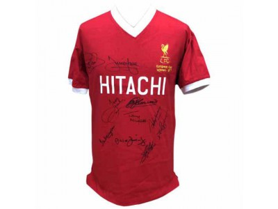 Liverpool FC 1977 European Cup Winners Signed Shirt