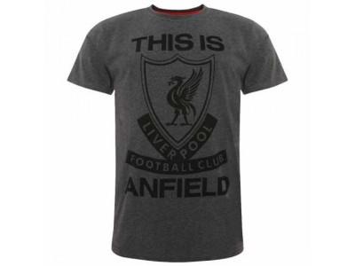 Liverpool FC TIA T Shirt Mens Charcoal S