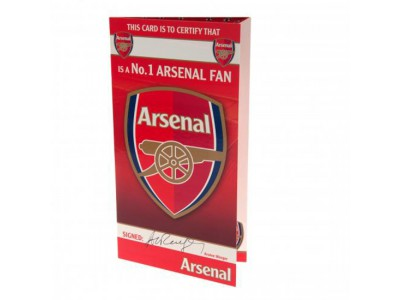 Arsenal Fc Birthday Card No 1 Fan