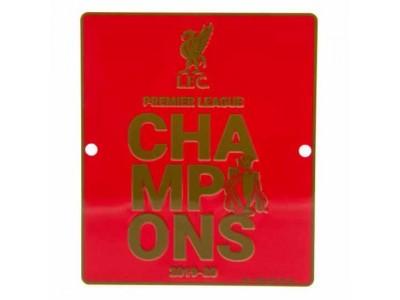 Liverpool FC Premier League Champions Window Sign