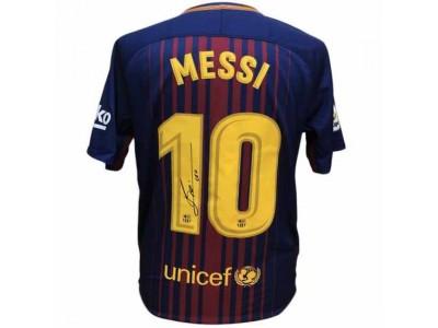 FC Barcelona Messi Signed Shirt 17-18