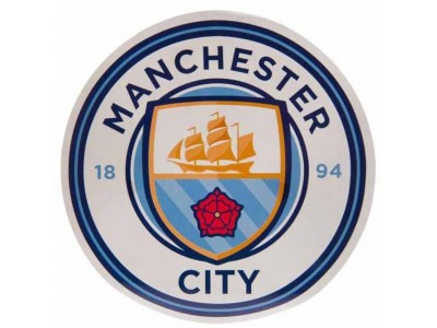 Manchester City FC Big Crest Circular Sticker
