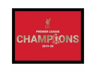 Liverpool FC Premier League Champions Metallic Picture 16 x 12