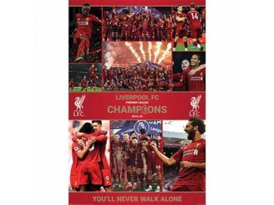 Liverpool FC Premier League Champions Poster Season 12