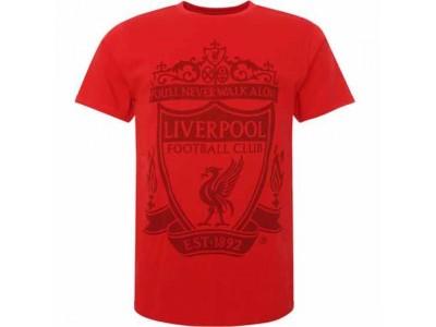 Liverpool FC Crest T Shirt Mens Red XL
