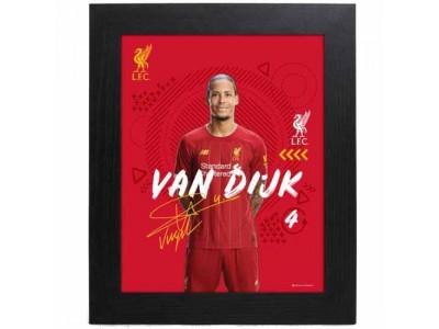 Liverpool FC Picture Van Dijk 10 x 8