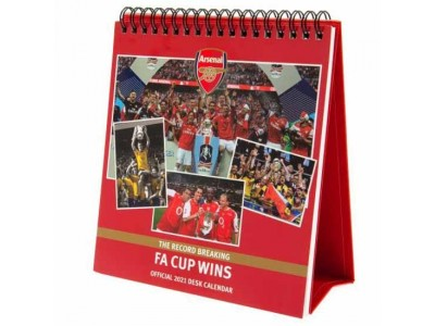 Arsenal FC Desktop Calendar 2021