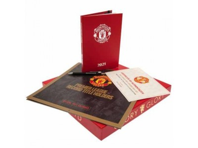 Manchester United FC Collectors Calendar Gift Set 2021