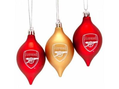 Arsenal FC 3 Pack Vintage Baubles