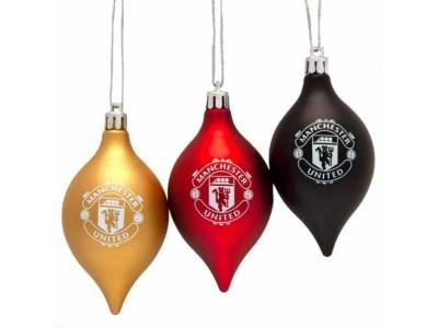 Manchester United FC 3 Pack Vintage Bauble