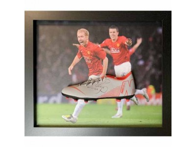 Manchester United FC Scholes Signed Boot (Framed)