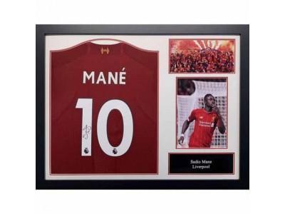 Liverpool FC Mane Signed Shirt (Framed)