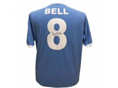 Manchester City FC Bell Signed Shirt Silhouette