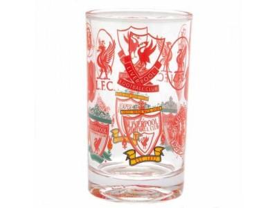 Liverpool FC Retro Crest Small Glass