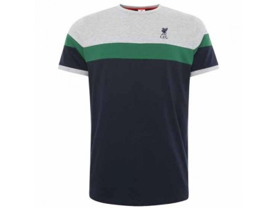 Liverpool FC Retro Panel T Shirt Mens Navy L