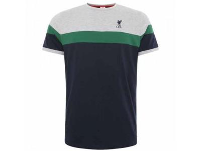 Liverpool FC Retro Panel T Shirt Mens Navy XXL
